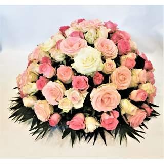 Complaisance -Coussin rond de roses