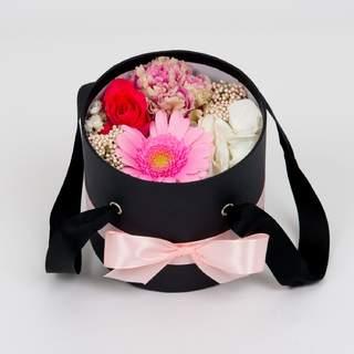 Boîte à fleurs noire (⌀ 14 cm)