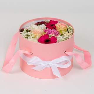 Boîte à fleurs rose (⌀ 20 cm)