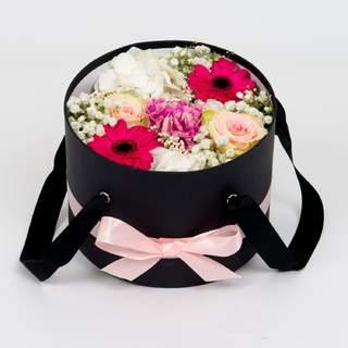 Boîte à fleurs noire (⌀ 20 cm)