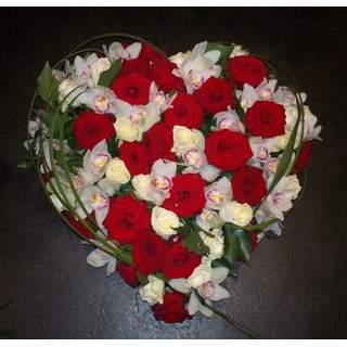 Pensées Eternelles - coeur de fleurs