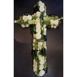 Eternité - Croix de fleurs variées