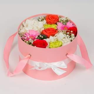 Boîte à fleurs rose (⌀ 23 cm)