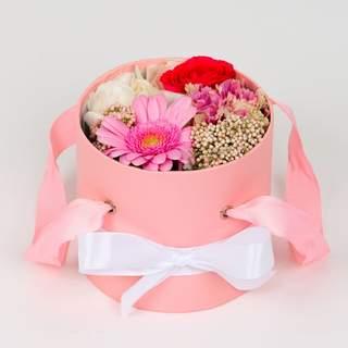Boîte à fleurs rose (⌀ 14 cm)