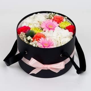 Boîte à fleurs noire (⌀ 23 cm)