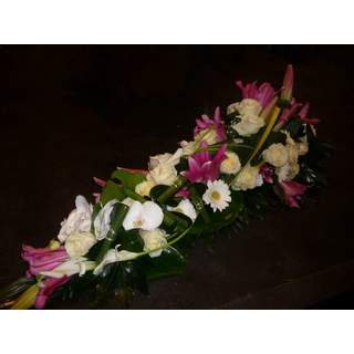 Dessus de cercueil rose et blanc - Symphonie
