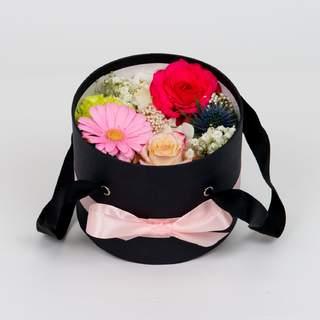 Boîte à fleurs noire (⌀ 17 cm)