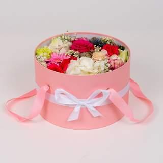 Boîte à fleurs rose (⌀ 26 cm)