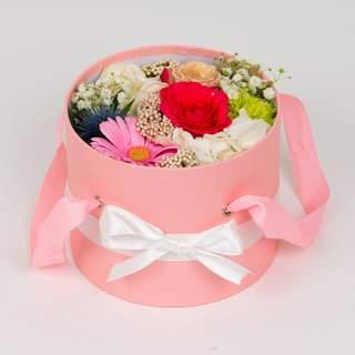Boîte à fleurs rose (⌀ 17 cm)