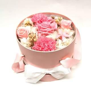Boîte à fleurs mélangées éternelles (⌀ 17 cm)